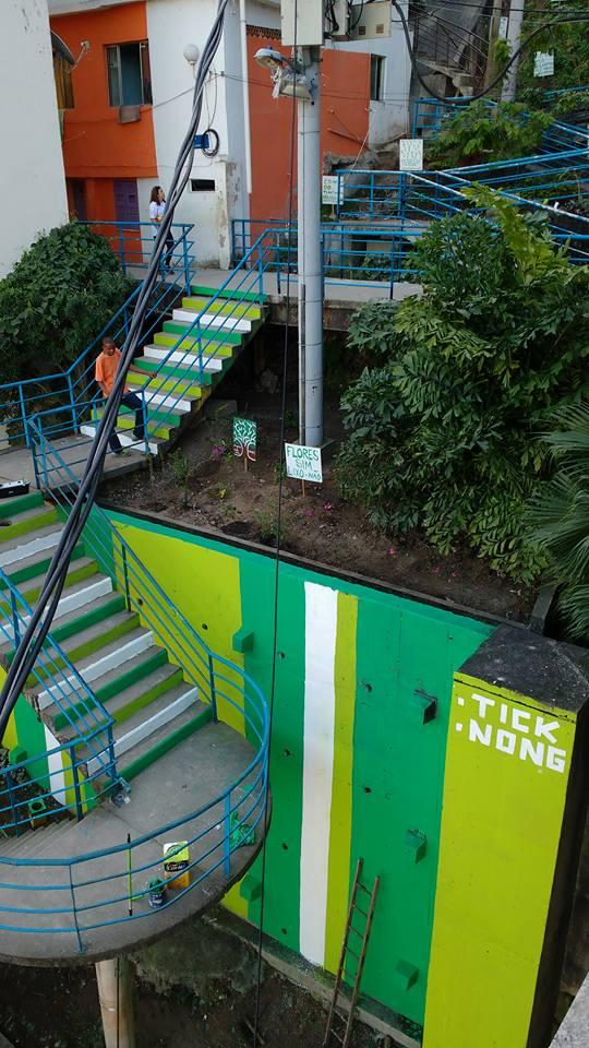 Grafite Tick Nong Tabajaras  Cabritos projeto Viva Bairro GPA e Extra co-produtor