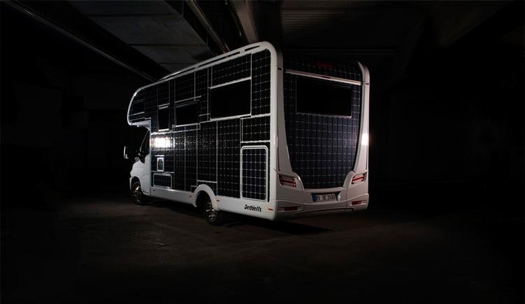 motorhome é movido a energia solar