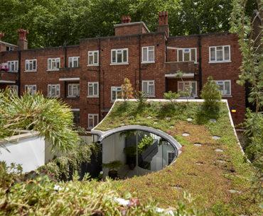Telhado verde é destaque de estúdio em Londres