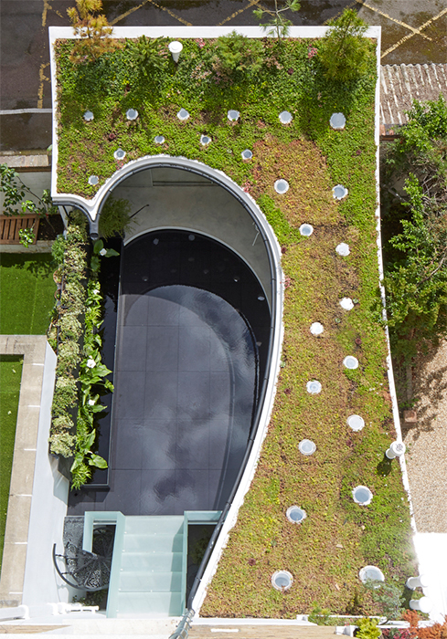 Tejado verde es destaque en un estudio en londres - Tragaluces para tejados ...