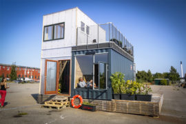 Vila de estudantes é construída com contêineres na Dinamarca
