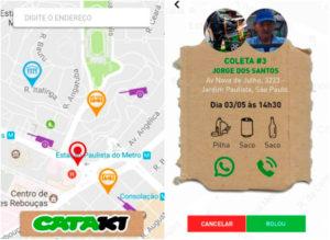 Aplicativo conecta catadores a quem deseja reciclar