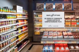 Supermercado inaugura corredor sem plásticos