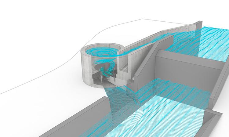 Mini-hidrelétrica gera energia limpa usando redemoinho