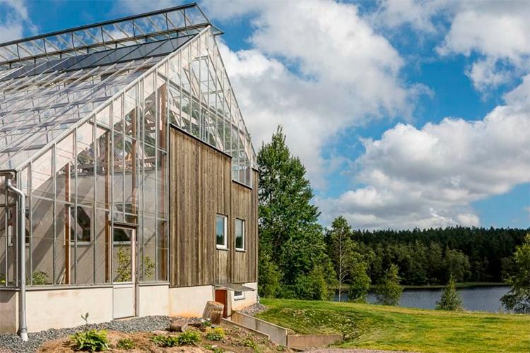 Casa-estufa cercada pela natureza produz alimentos o ano todo