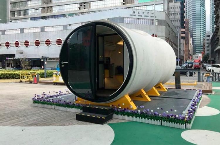 Minicasas são construídas com tubo de concreto