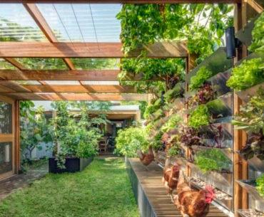Casa autossustentável produz energia e alimentos em Sydney