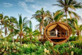 Hotel sustentável no México tem quartos de bambu