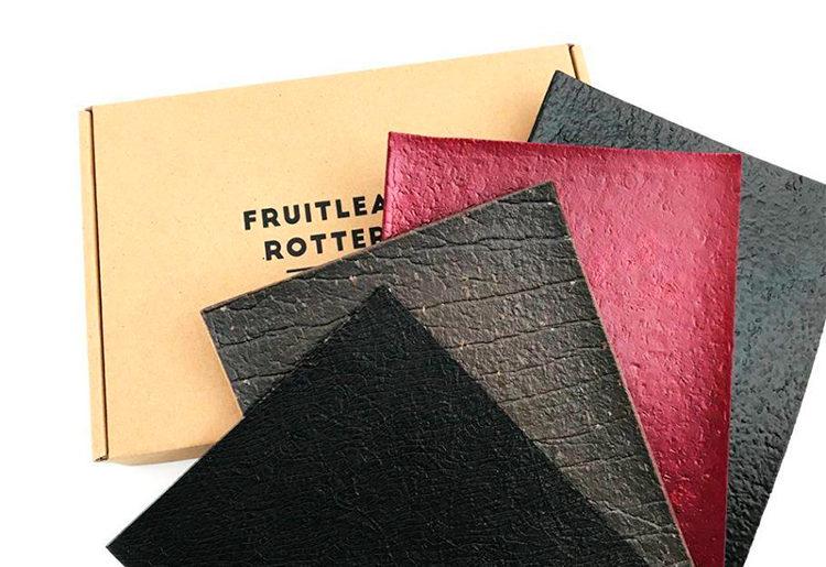 Couro ecológico é produzido com frutas descartadas